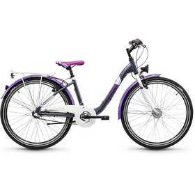s'cool chiX 26 3-S - Vélo junior Enfant - steel gris/violet